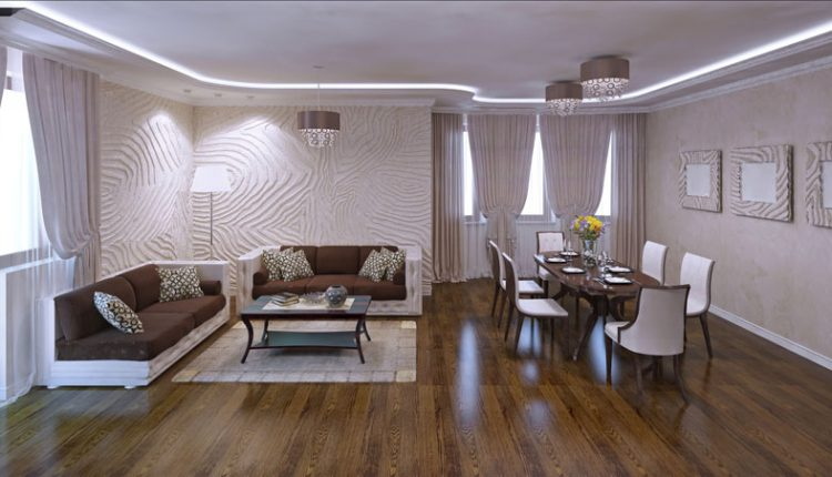Posh Living Room Laminate Flooring