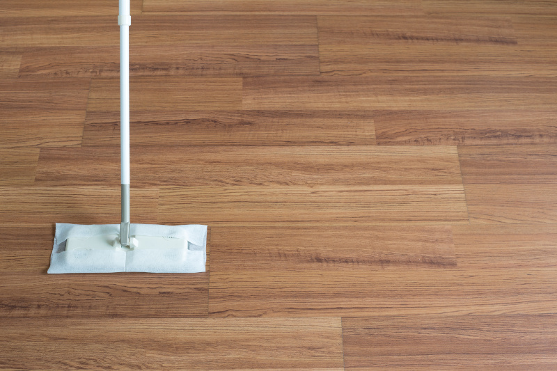 A Mop Cleaning the Floor